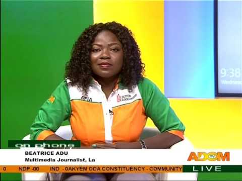 Update of election 2016 Provision Results - Kokromoti Power on Adom TV (8-12-16)