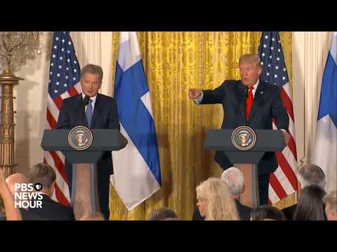 WATCH: President Trump, Finnish president hold press conference