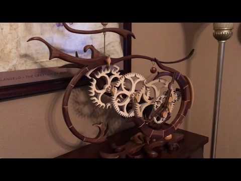 """""""Organic"""" Wood gear clock"""