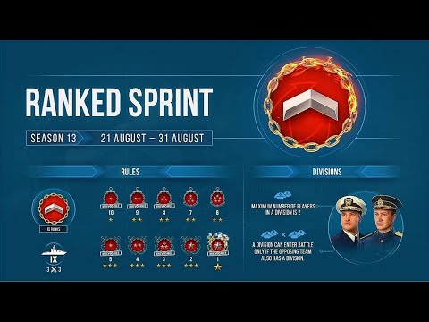 World Of Warships - Ranked Sprint Season 13 Recommended Ships