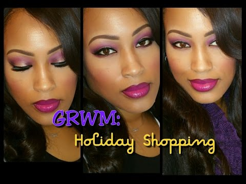 GRWM: Sleek Makeup and Holiday Shopping
