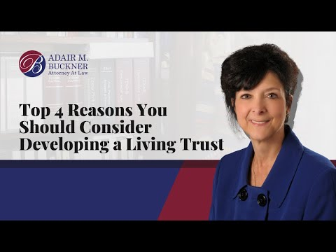 Adair Buckner, Amarillo Estate Planning Attorney, reviews the top four reasons a family or individual should develop a living trust.   1. Own real estate or mineral interest in several different states or counties. 2. Own mineral interest in a number of different counties within Texas. 3. Have a large estate(s), $5 million per person or more. 4. Have a special business or property ownership interest.