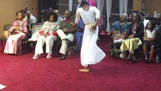 Apostolic Triumphant Church Int. Youth minister in Dance to Juanita Bynum - Peace