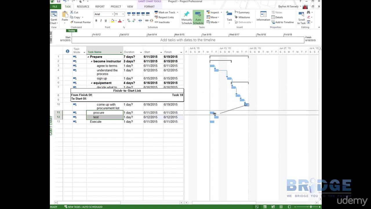 استخدام مايكروسوفت بروجكت Ms Project في وضع جدول زمني بسيط وحساب التكاليف Youtube