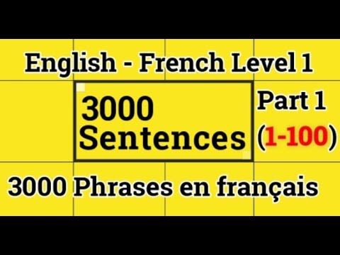 3000 Phrases en français  - English French Level 1 Part 1 (0