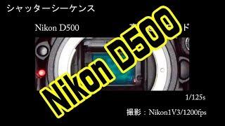 シャッターシーケンス ニコンD500