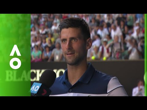 Novak Djokovic on court interview (2R) | Australian Open 2018
