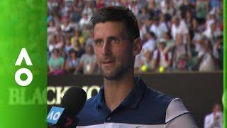 Novak Djokovic on court interview (2R) | Australian Open 2018