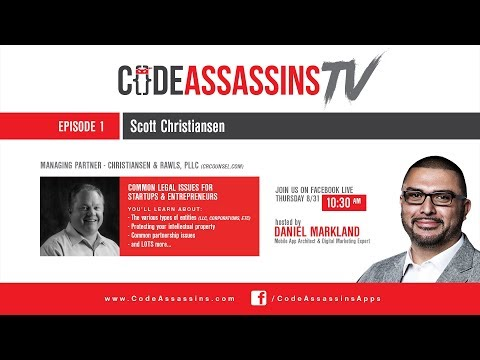 Common Legal Issues For Entrepreneurs and Startups (Scott Christiansen)