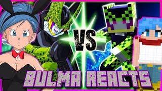 Minecraft Bulma Reacts to Perfect Cell Vs Minecraft (Devil Artemis Trilogy)
