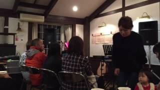 2016.11.12 熊本県水俣市の川沿いにある喫茶店みなまたキッチンで行われたスイーツ食べ放題Live。 yu-ka.fet.R.