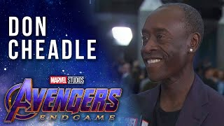 Don Cheadle talks what makes a real world hero LIVE at the Avengers: Endgame Premiere