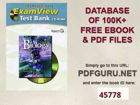 biology test bank pdf Biology helps you meet the challenge by providing a variety of  student, and  ensuring ap biology exam success  (ap-style test bank + sample questions).