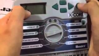 สอนใช้เครื่องควบคุมวาล์วไฟฟ้า Hunter controller x-core ตั้งเวลารดน้ำสปริงเกอร์อัตโนมัติ Video