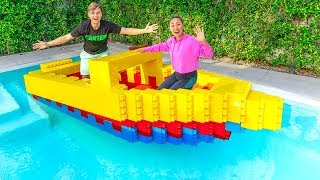 I BUILT A GIANT $10,000 LEGO BOAT!!
