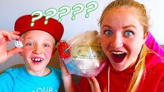 $100 Prize Inside! Saran Wrap Challenge: Mystery Money Ball Game! / The Beach House