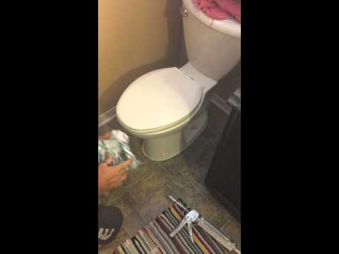 Caulking a toilet professionally