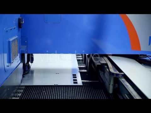 Metal Bending Machine On a Modern Industrial Factory. - Stock Footage | VideoHive 14884871