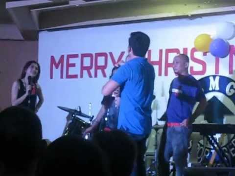 90.7 Love Radio DJs at REMGS Christmas Party