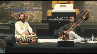 Arjun Verma and Salar Nader perform for Morari Bapu