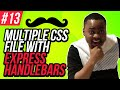Multiple CSS Files with Express Handlebars