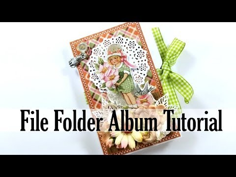 Vintage File Folder Happy Easter Mini Album Scrapbook Tutorial Polly's Paper Studio DIY Process