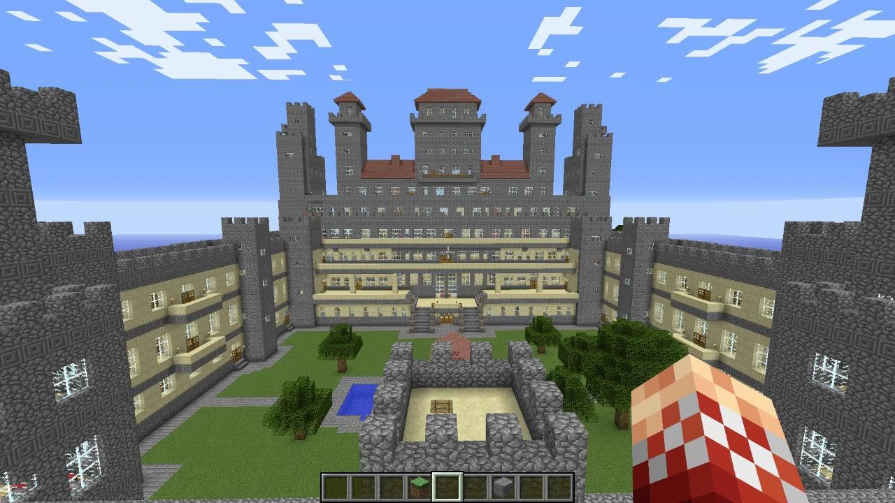 Amazing Minecraft Castle 120 Rooms Youtube