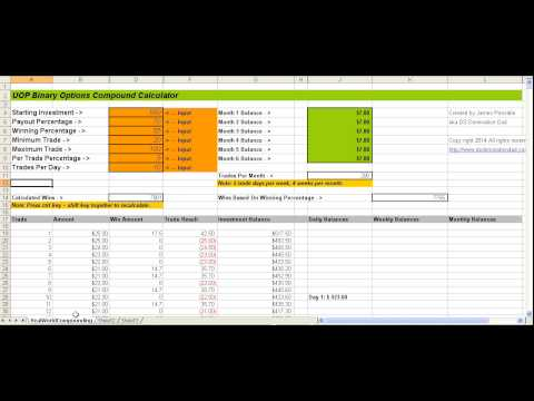 Binary Options Compound Calculator - Revisited with James Po