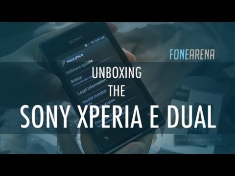 Sony XPERIA E Dual Unboxing