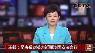 [中国新闻] 王毅:坚决反对英方近期涉国安法言行 | CCTV中文国际 - YouTube