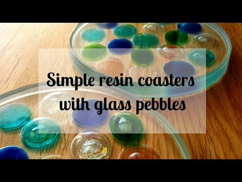 134 - Resin pebble coasters - super easy for beginners
