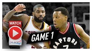 Kyrie Irving vs Kyle Lowry Game 1 PG Duel Highlights (2017 Playoffs ECSF) Cavs vs Raptors - SICK!