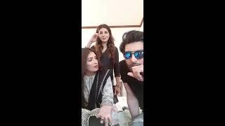 Imran Abbas & Aiza Khan Live on Instagram from the set of Koi Chand Rakh