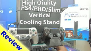 Let's Review: PS4/PS4 PRO/Slim Vertical Cooling Stand With Controller Charger & Games Storage Kootek
