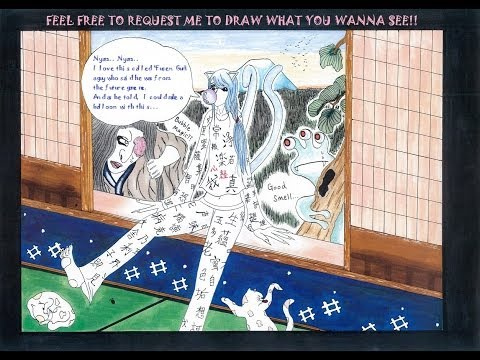 The World of Hyakki Yagyō Japanese Yōkai emaki scroll 1  Copic Marker Illustration