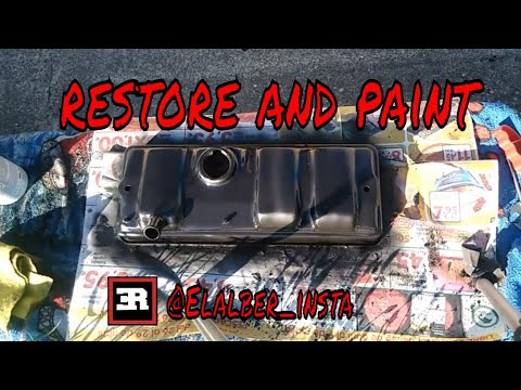 How to fix easily restore and paint the car rocker valve cover easily and for little money,