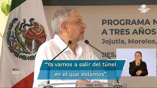 El presidente de México reiteró que México ya se ve la luz que indica que ya se va saliendo de ambas crisis, la económica y sanitaria ocasionada por el Covid-19