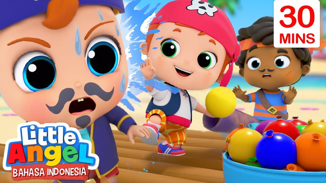 Download Serunya Jadi Bajak Laut dan Main Balon Air!🎈Lagu Anak   Little Angel Bahasa Indonesia