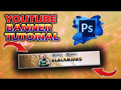 Create A YOUTUBE Banner With PHOTOSHOP CC/CS6 Under 15 Minutes In 2020! (Windows/Mac)