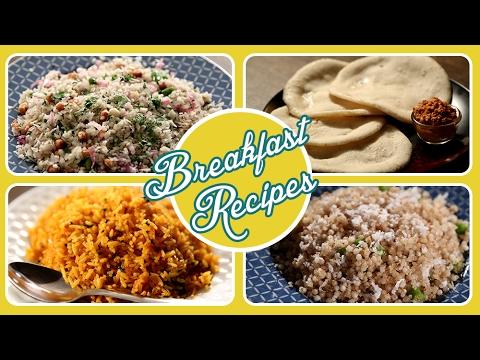 Maharashtrian Breakfast Recipes | Quick and Easy | Pohe, Upma, Amboli | Ruchkar Mejwani with Archana