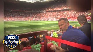 What made Ryan Giggs angry during Man United's home opener?