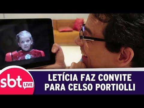 SBT Live Com Teleton+ - Criança Símbolo Faz Convite Para Celso Portiolli | (09/10/17)