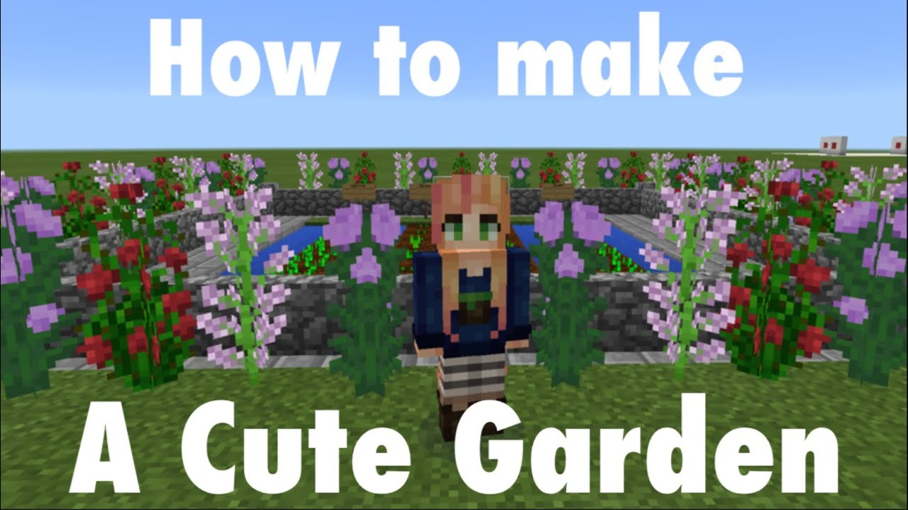 how to create a extremely easy cute minecraft garden