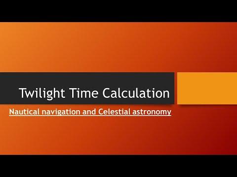Twilight: Nautical navigation and astronomy
