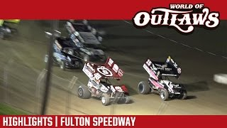 World of Outlaws Craftsman Sprint Cars Fulton Speedway Highlights