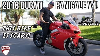 2018 DUCATI Panigale V4! | First time riding!