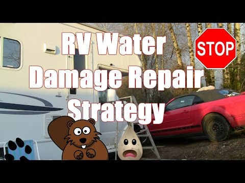 RV Water Damage  Repair Strategy!