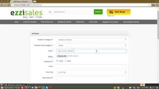 How to add a product for sell at ezzisales.com