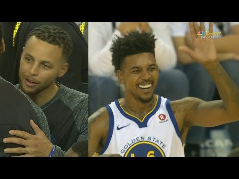 Stephen Curry New Hair Debut! Nick Young Left Wide Open! 2017-18 Season