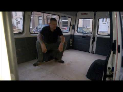 Ford Transit van mini bus to camper van conversion Part 2